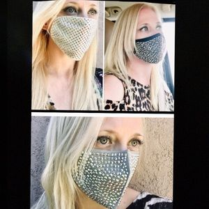Accessories - Swarovski Crystal Face Masks 3 Different Colors